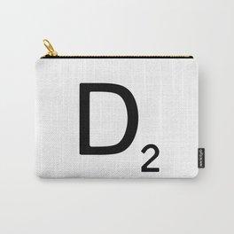 Letter D - Custom Scrabble Letter Wall Art - Scrabble D Carry-All Pouch