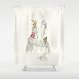 La identidad Shower Curtain
