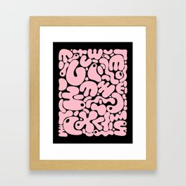 blobs 0014 pink & black Framed Art Print