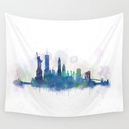 NY New York City Skyline Wall Tapestry