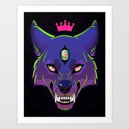 Knight Vision - Purple/Green Art Print