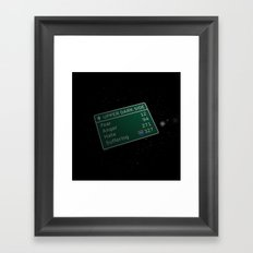 The Path to the Dark Side Framed Art Print