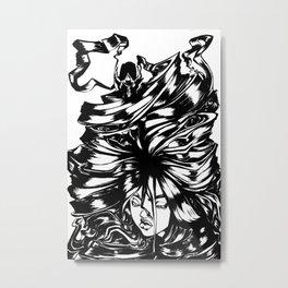 Girl with Dragon Hair Metal Print