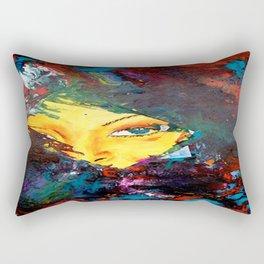 Woman's Face  Rectangular Pillow