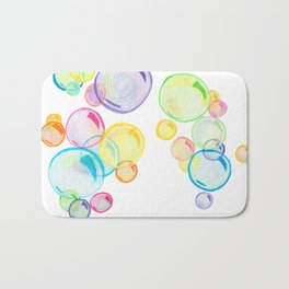 Rainbow Pastel Bubbles Floating Bath Mat