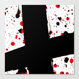 The Black Cross - Abstract Art Canvas Print