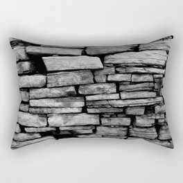 stone wall Rectangular Pillow