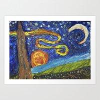 Windy Night Art Print