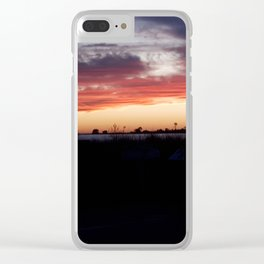 Southampton South Beach Sunset Clear iPhone Case