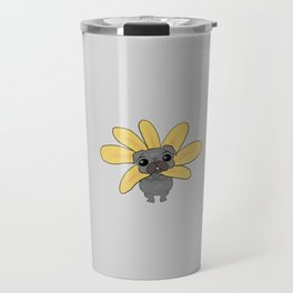 Sunflower pug Travel Mug