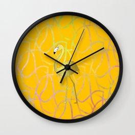 Twist And Turn Flamingo Wall Clock
