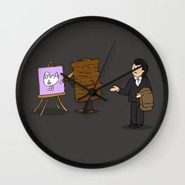 drawing of a guy confused about what wall art is Wall Clock