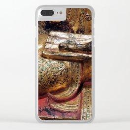 Golden Buddha Hand Mudra Clear iPhone Case