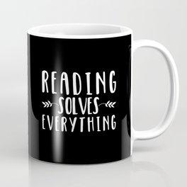 Reading Solves Everything (inverted) Coffee Mug