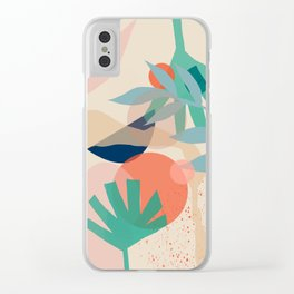 No sun no flowers either Clear iPhone Case