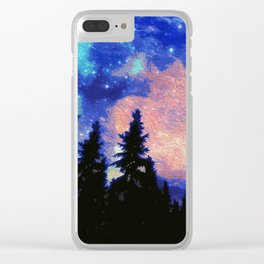 The Galaxy Above Us Clear iPhone Case