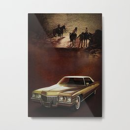 1972 Golden Cadillac Metal Print