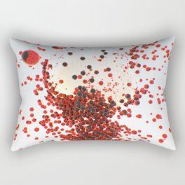 Abstract with red glowing spheres Rectangular Pillow