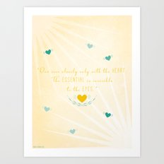 One sees clearly only with the heart Art Print
