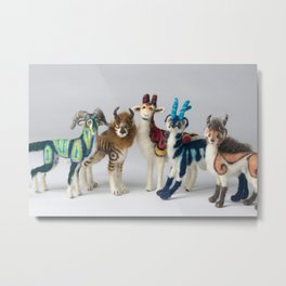 Fantastic Felted Beasts Metal Print