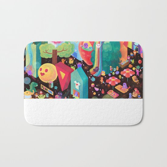 Happy World - Money is FREE ! Bath Mat