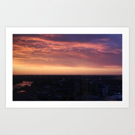 Calgary Sunrise Art Print