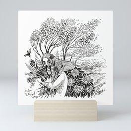 Flowers and Wind Mini Art Print