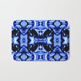 Blue Black  Fantasy Pattern Bath Mat