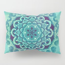 Green Blue Mandala Design Pillow Sham