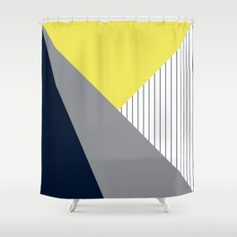 Triangles looking Illuminating and Ultimate Navy elegant Shower Curtain