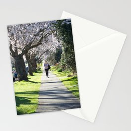 Cherry Blossom Sidewalk Stationery Cards