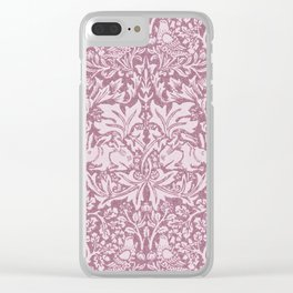 William Morris,The Strawberry thief,revamped Clear iPhone Case