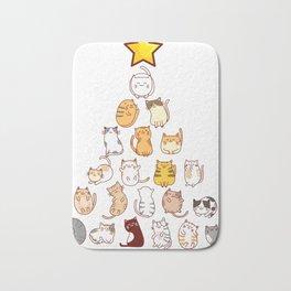 Cats Christmas Tree Bath Mat