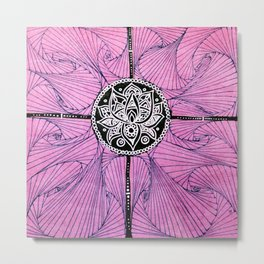 White Lotus Metal Print