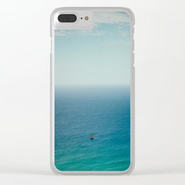 Small Sailboat, Big Ocean Clear iPhone Case