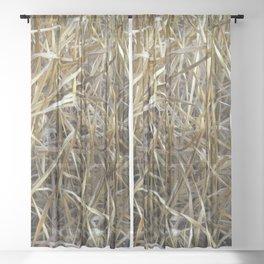 Dry Grass Sheer Curtain