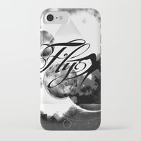 decal iPhone & iPod Cases featuring fly away bw by haroulita