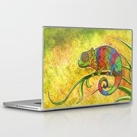 chameleon Laptop & iPad Skins featuring Chameleon  by Georgia Roberts
