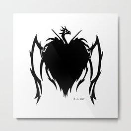 Dragon Heart Tattoo Metal Print