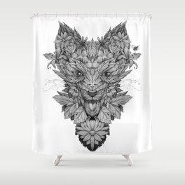 Floreal fox Shower Curtain