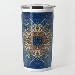 Leaves and River Mandala Travel Mug