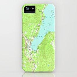 Vintage Map of Lake George New York (1966) 2 iPhone Case