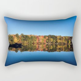 Autumn Blue Original Photograph Rectangular Pillow