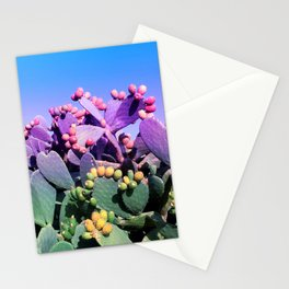 Sweet Rainbow Tropical Cactus #tropicalart #decor Stationery Cards