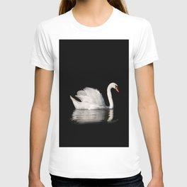 Mute Swan Cygnus olor at lake T-shirt