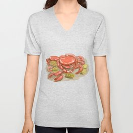 Cajun Seafood Watercolor Unisex V-Neck