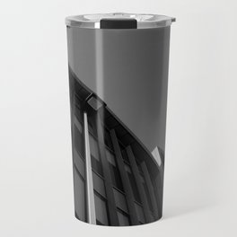 black and white building abstract Travel Mug