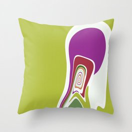 Whisper at the wall Throw Pillow
