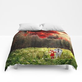 THE REAL STORY OF THE LITTLE RED RIDING HOOD Comforters