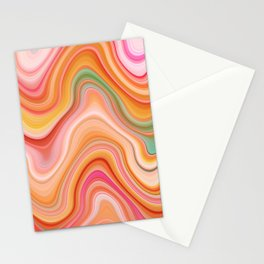 Bubble gum memories - Abstract Pink Pattern Stationery Cards